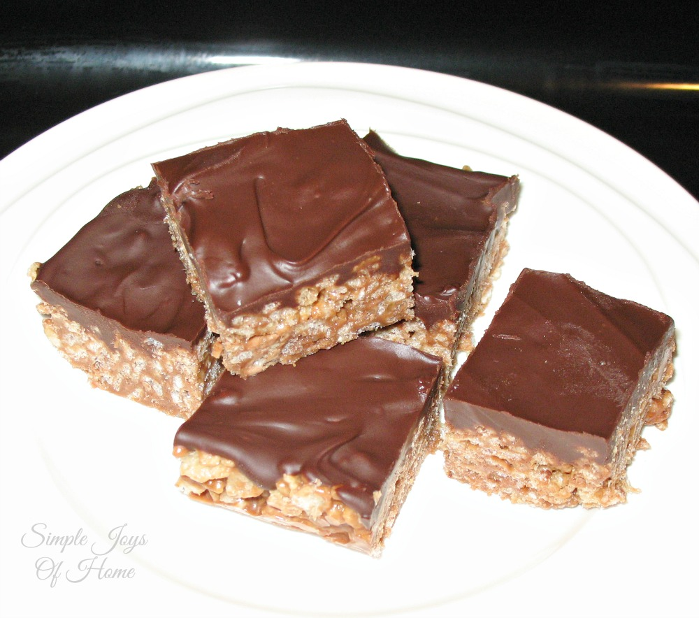 Simple Joys Of Home: Mars Bar Squares on plate