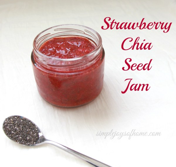 This strawberry chia seed jam is delicious and so easy to make!