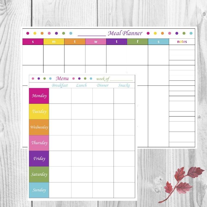 Basic Menu Planning