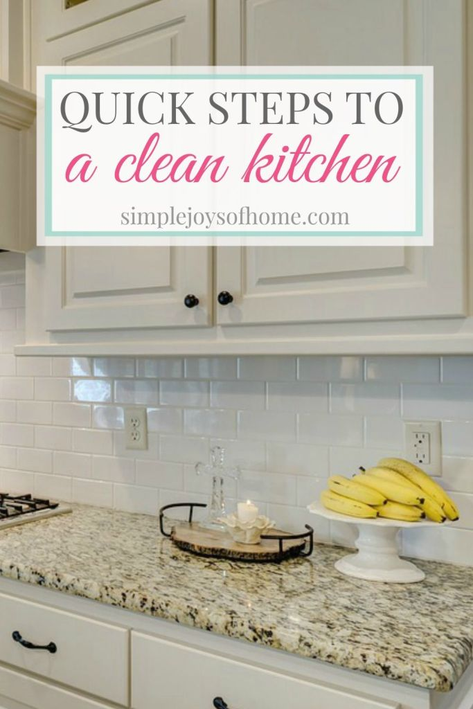 The kitchen is the heart of the home and it can quickly get out of order and become messy. A tidy kitchen really makes a difference in how clean your house feels. Here are six quick steps to a clean kitchen.