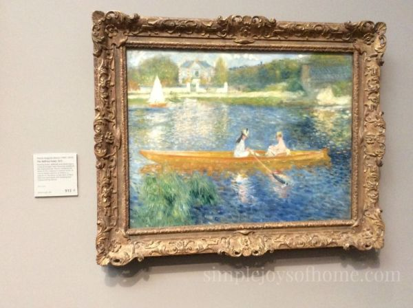 The Skiff by Renoir | Simple Joys Of Home