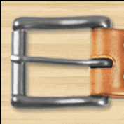 A Simple Leather Belt Co Stainless Roller Buckle