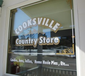 front window of Cooksville Country Store