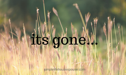 its gone