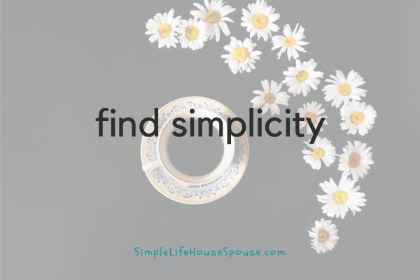 find simplicity