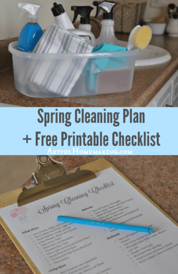 Homestead Blog Hop Feature - A Spring Cleaning Plan plus printable checklist