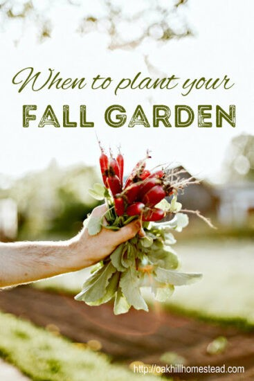 Homestead Blog Hop - When to Plant a Fall Garden