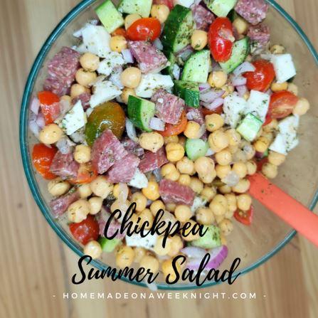 Homestead Blog Hop Feature - Chickpea Summer Salad