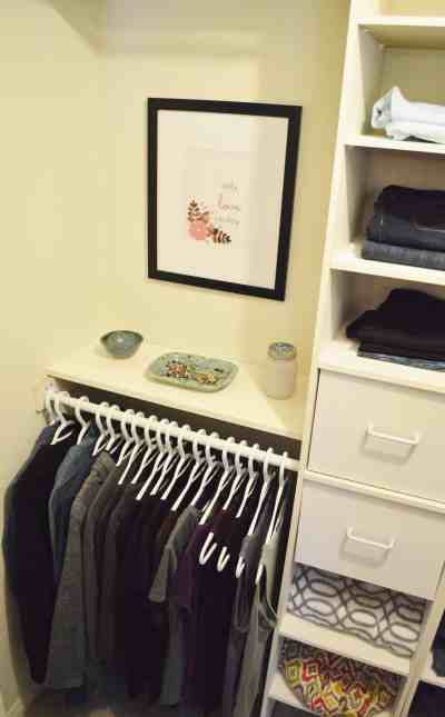 Minimalist closet makeover - whole closet