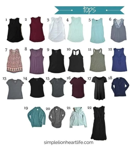 Summer capsule wardrobe - 2017 stay at home mom summer capsule wardrobe (tops)