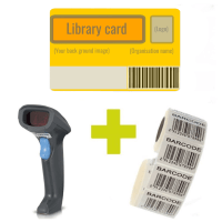 Value bundle with Syble scanner, 500 library cards, 1000 barcode labels