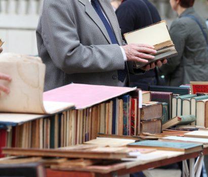 People browsing at book sale