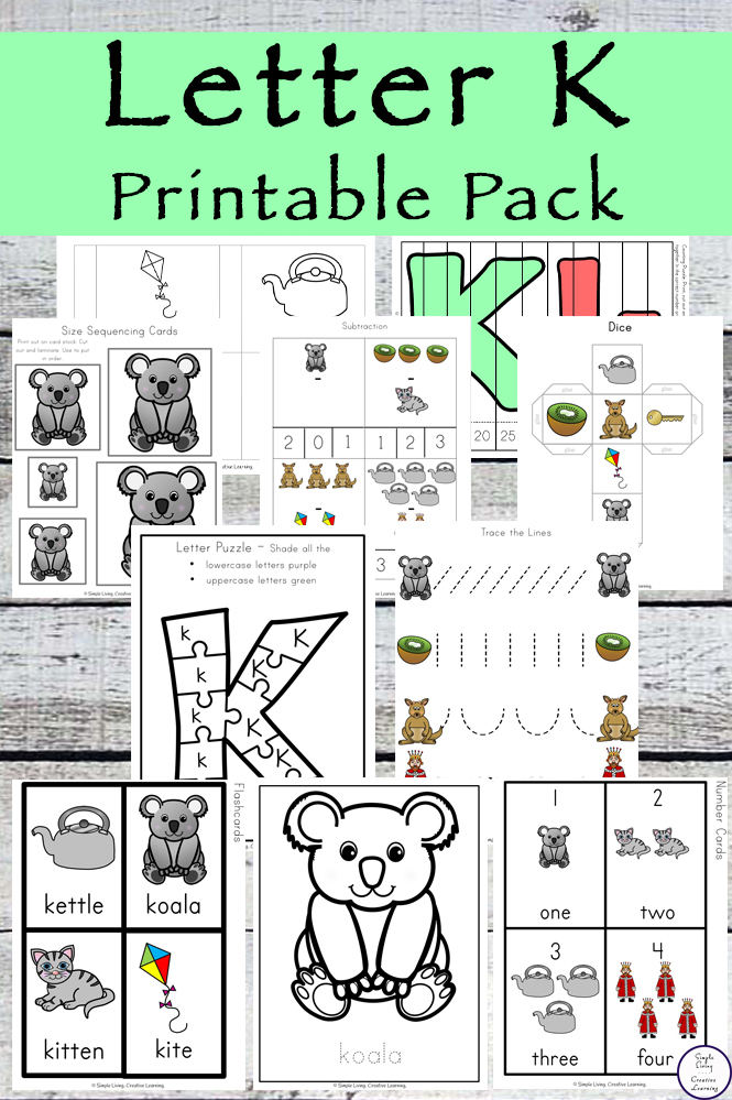 It might be more than you think. Letter Of The Week Letter K Printable Pack Simple Living Creative Learning