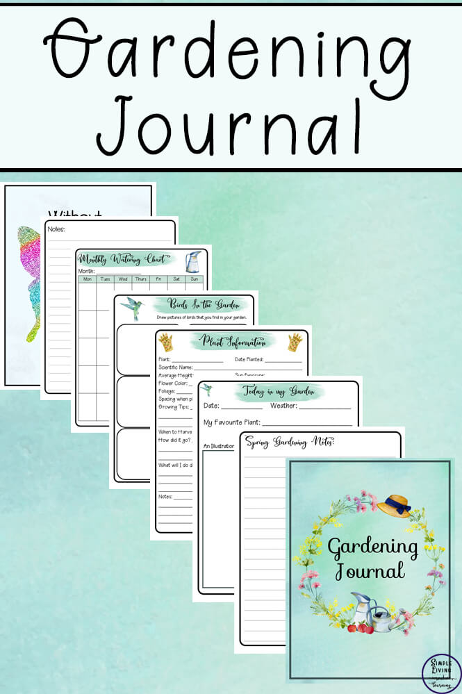 Create A Gardening Journal Simple Living Creative Learning