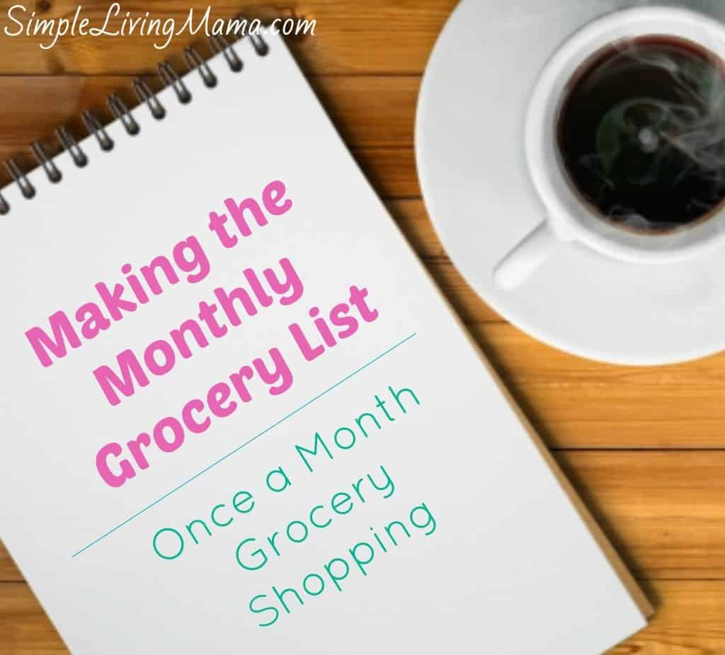 Making The Monthly Grocery List
