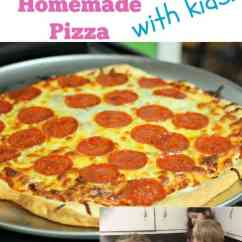 Kitchen Aide Mixer Nook Lighting How To Make Homemade Pizza - Simple Living Mama
