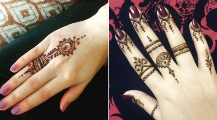 simple mehndi design for fingers easy