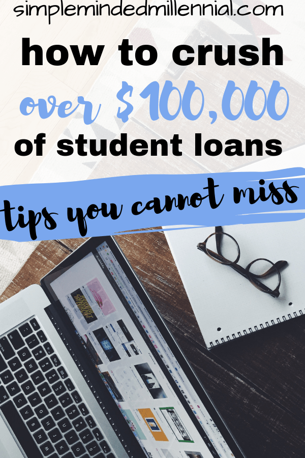 How to pay off student loans in 2019. Crushing $100,000 of loans. Debt freedom.