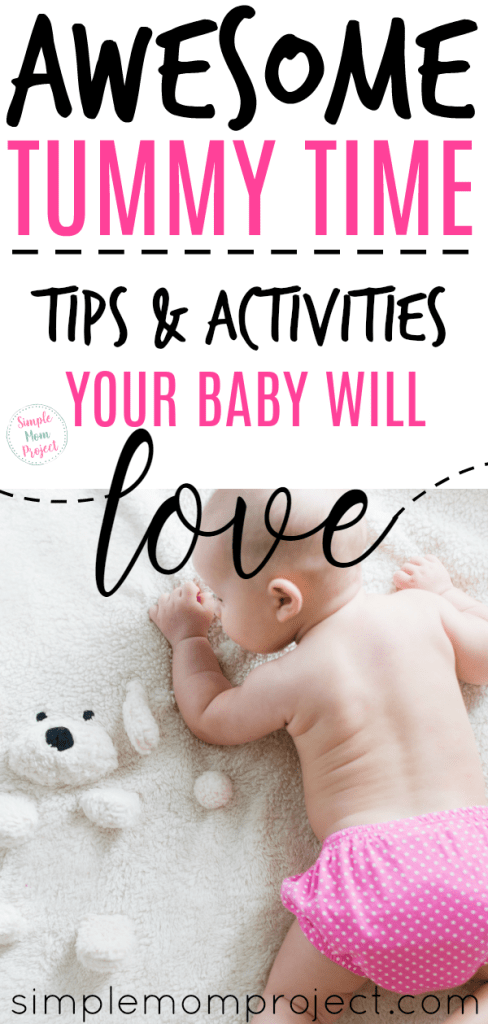 Check out this post for amazing benefits of tummy time, when you should start, terrific tips to get your baby to fall in love with tummy time and SUPER FUN playful activities. Plus, print your free tummy time milestone chart!