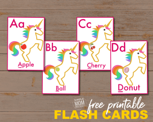 Make learning fun with these free printable alphabet flashcards! Use them as simple flashcards with your toddler or print two and you have a magical memory game!