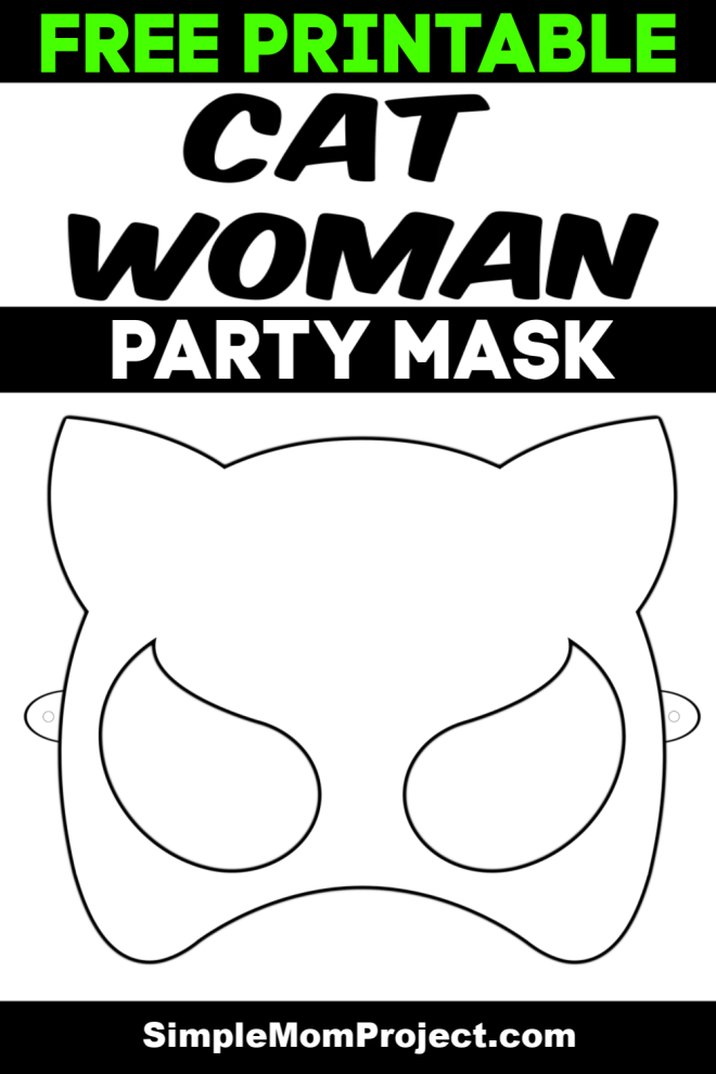 Catwoman Face Mask Template Free to Print