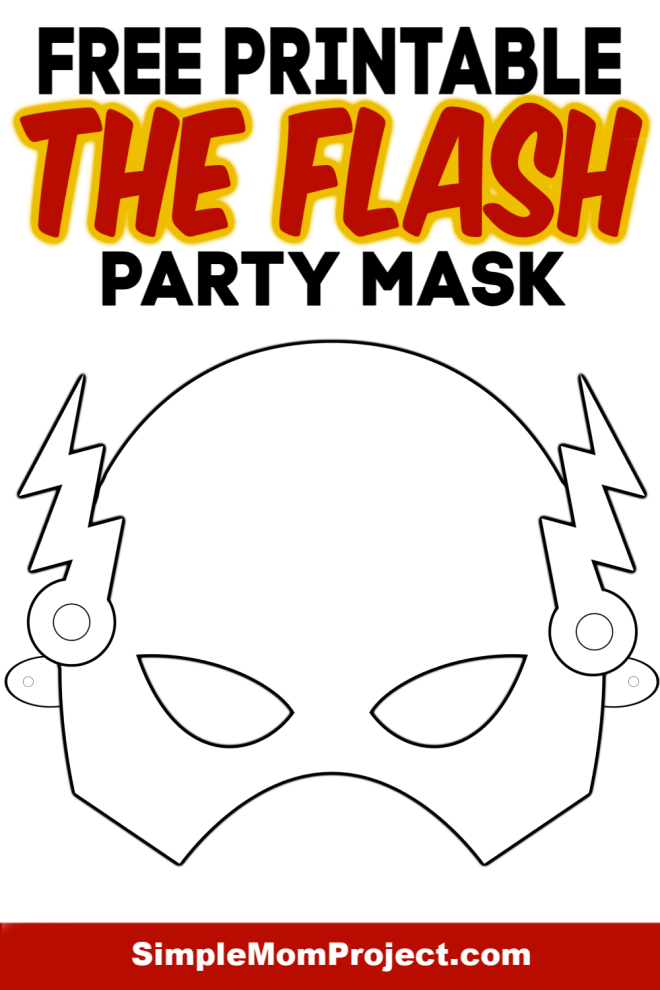 Free to Print The Flash Coloring Sheet Mask