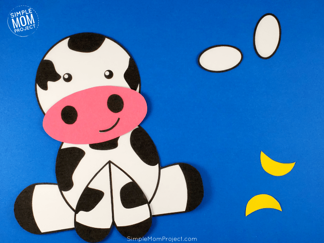 Cow Paper Craft Step 2