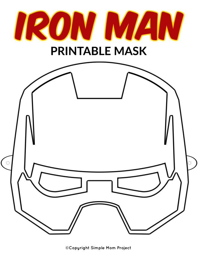 Free Printable Superhero Face Masks for Kids - Simple Mom ...