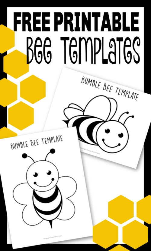 printable bee templates for your next bee craft