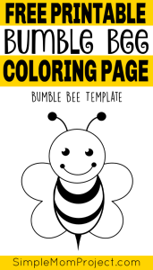 Free printable bee templates pin