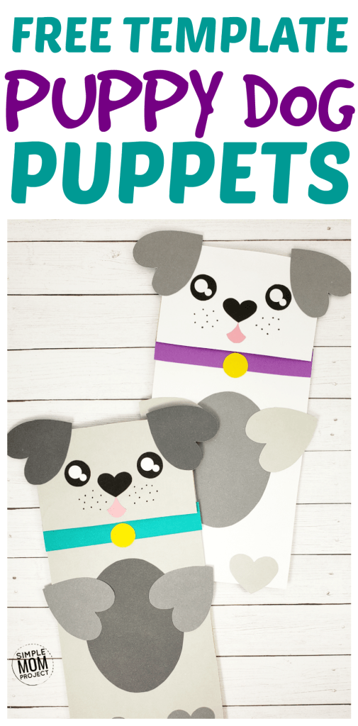 Puppy Dog Paper Bag Craft for Preschoolers Pin 1