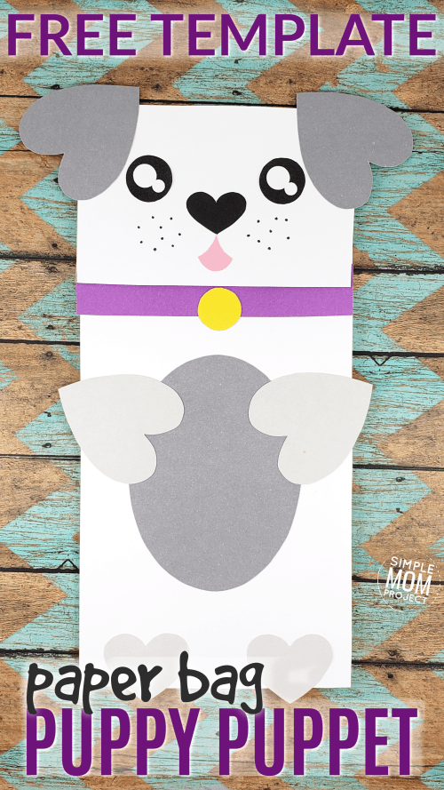 Puppy Dog Paper Bag Craft for Preschoolers Pin