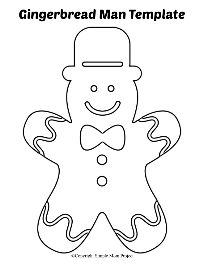 It's just a picture of Massif Gingerbread Template Printable