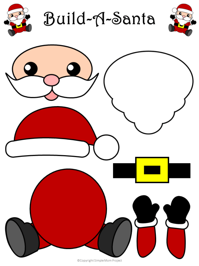 Easy to Make Santa Claus Craft with Free Templates ...