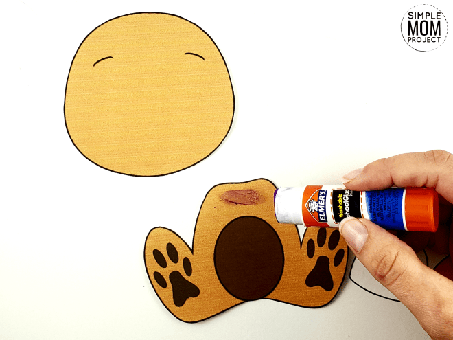 Free Printable Build a Dog Craft for Kids, Preschoolers, Toddlers and kindergartners