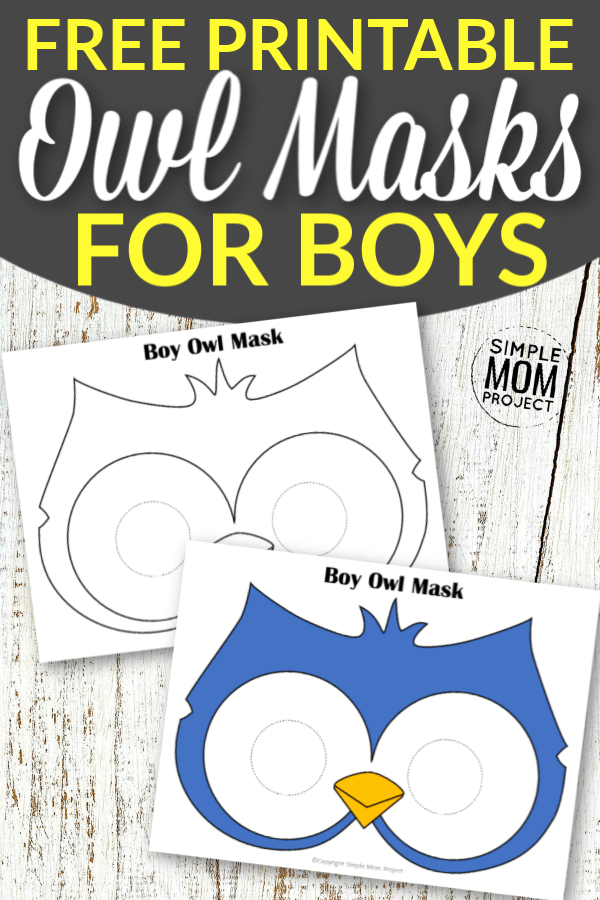 Free Printable Owl Mask Templates for Boys