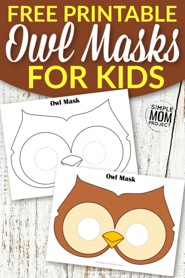 Free Printable Owl Mask Templates for Kids