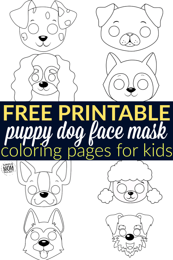 Free Printable Puppy Dog Mask Coloring Pages for Kids