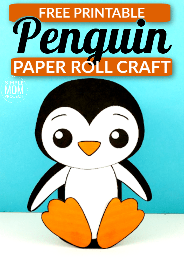Click now to use our FREE printable penguin cut out template to make this cute and easy toilet paper roll penguin craft! This cardboard tube penguin is perfect for arctic unit studies with your preschool or kindergartner class! #penguin #toiletpapercrafts #penguincrafts #penguintemplate #penguintpcraft #SimpleMomProject