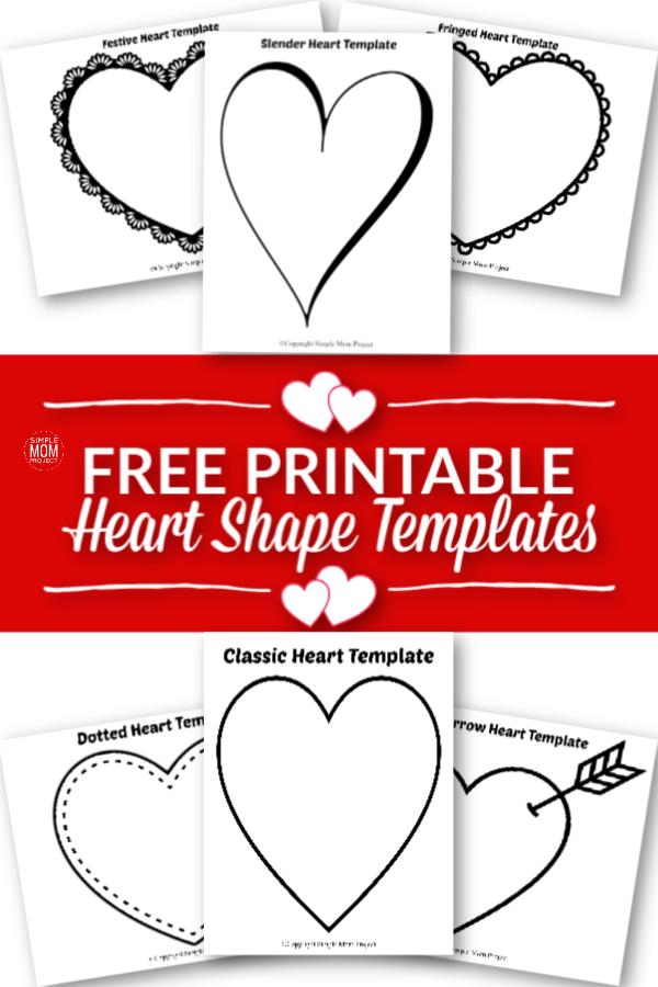 Free Printable Large Heart Shape Templates - Simple Mom ...