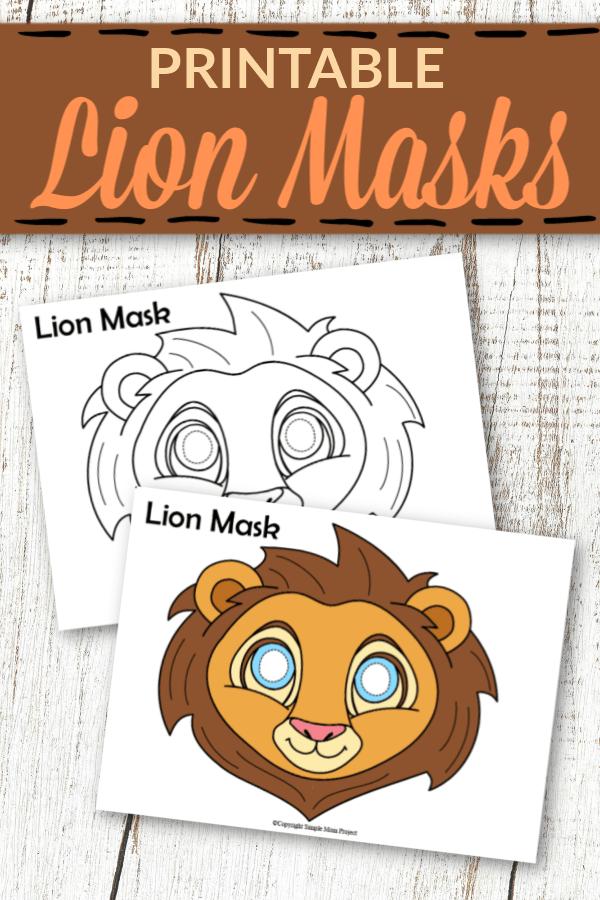 Printable Lion Mask Templates for Kids 1
