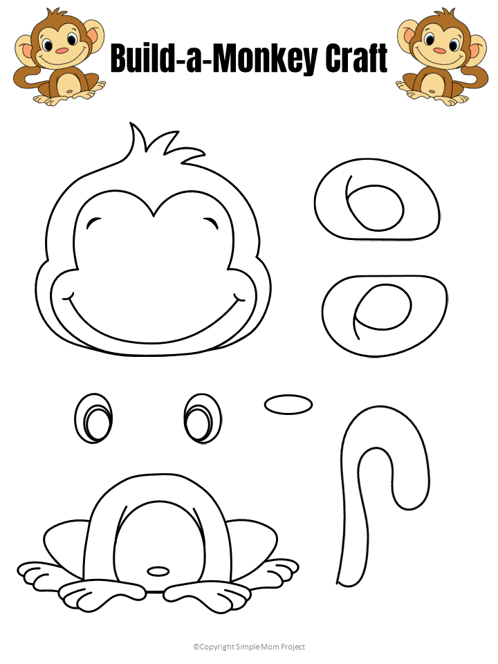 Easy Build-a-Monkey Craft for Kids with FREE Template