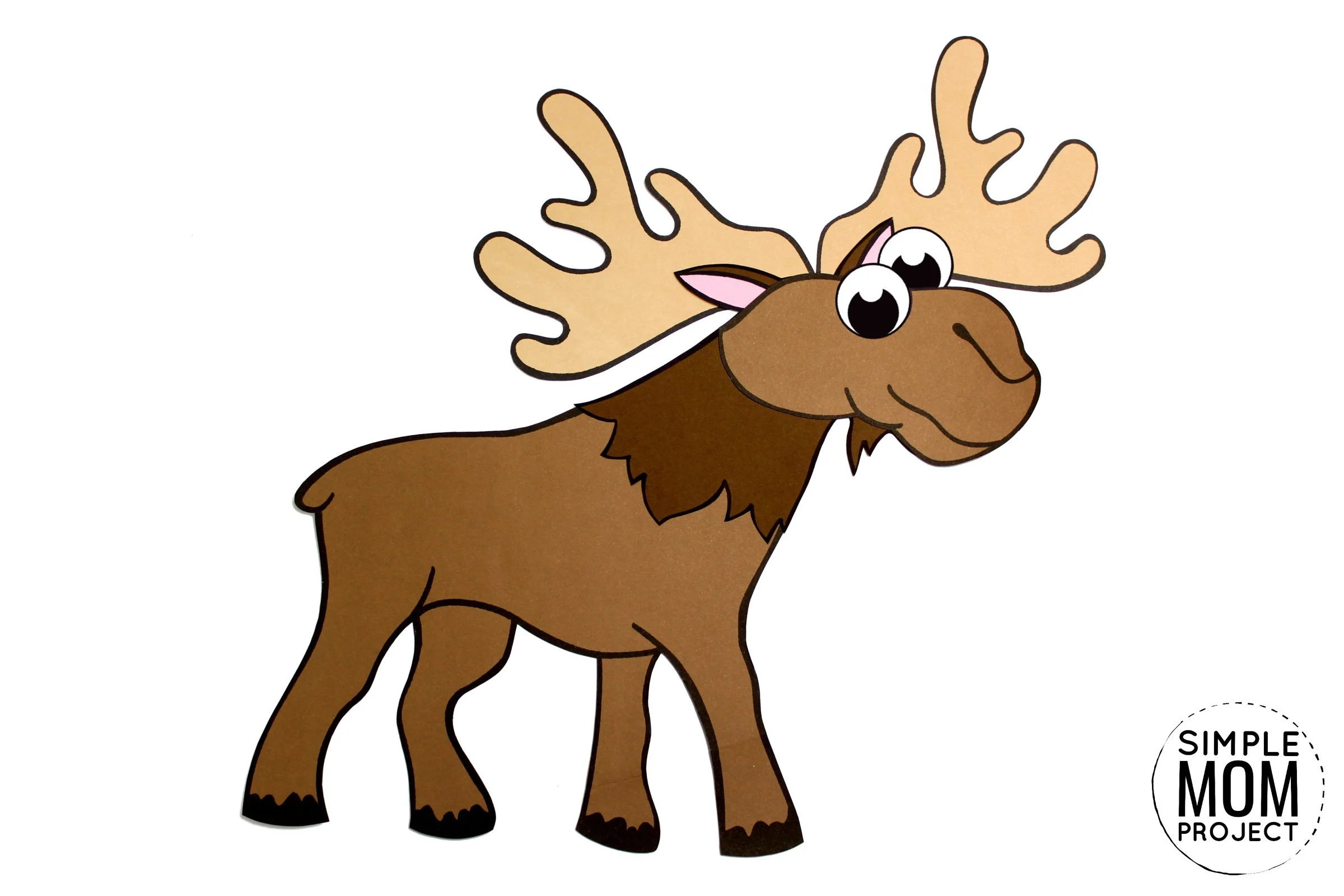 Cut And Paste Moose Craft For Kids With Free Template