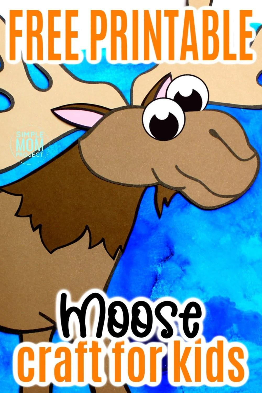 Moose Craft Preschool : moose, craft, preschool, Paste, Moose, Craft, Template, Simple, Project