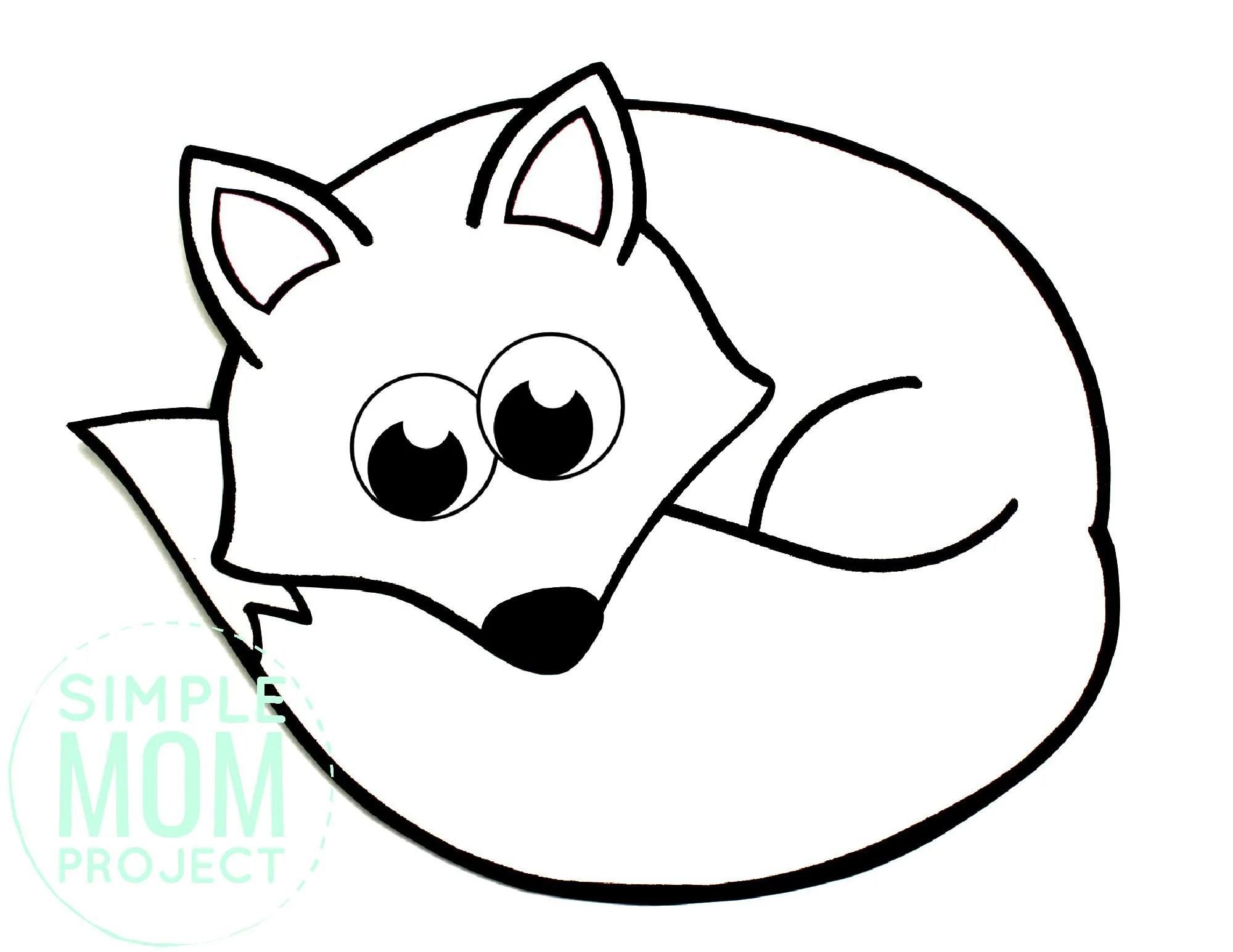 Free Printable Arctic Fox Coloring Page