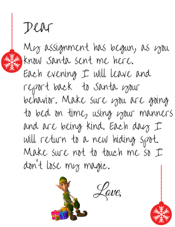 elf on the shelf letters printable free on the shelf welcome letter printable simple 48462