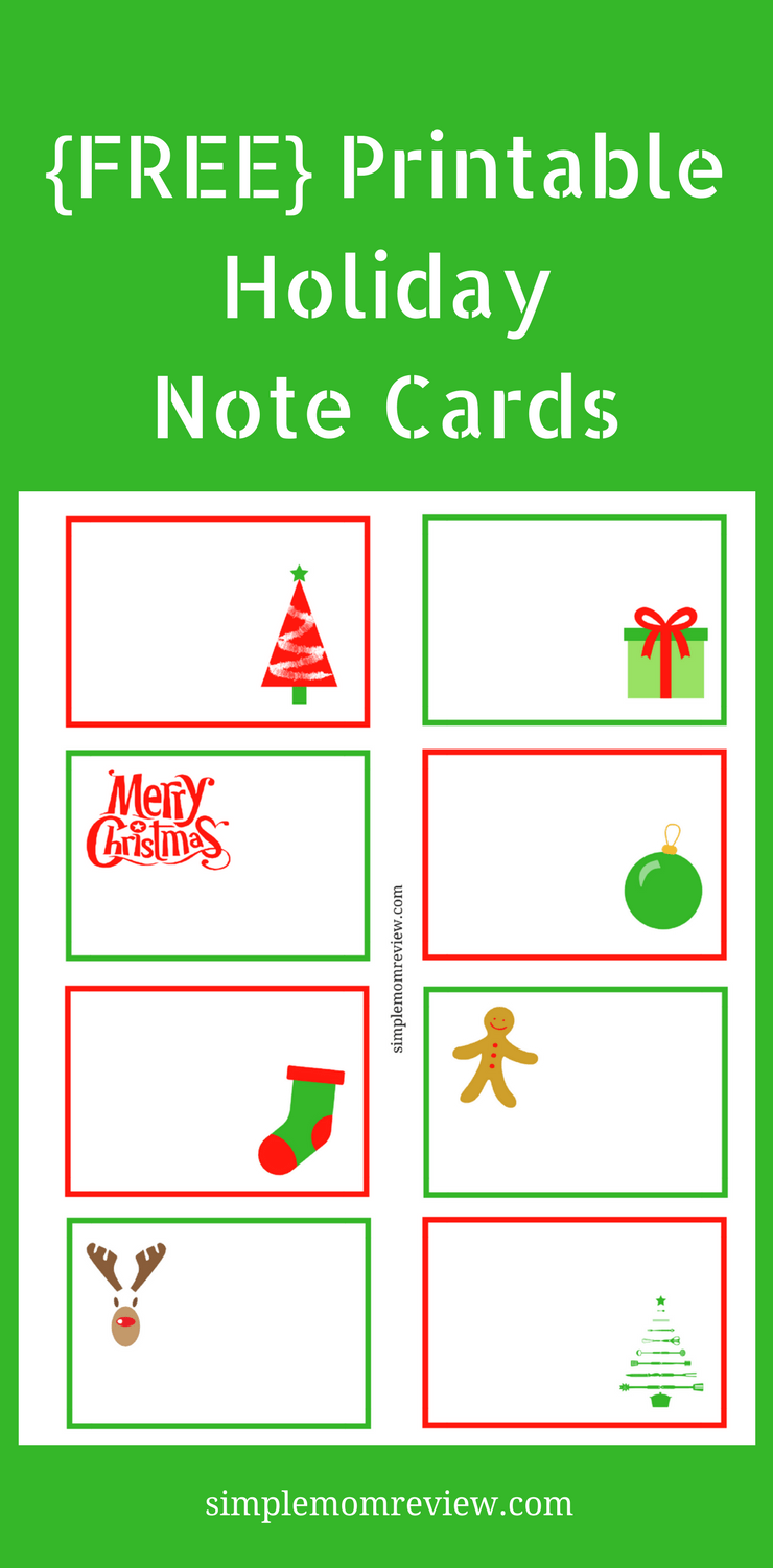 image about Note Cards Printable referred to as Getaway Take note Playing cards: Absolutely free Printable - Easy Mother Evaluation