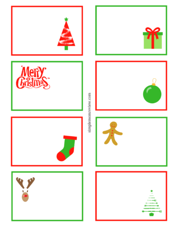 Holiday Note Cards Free Printable Simple Mom Review