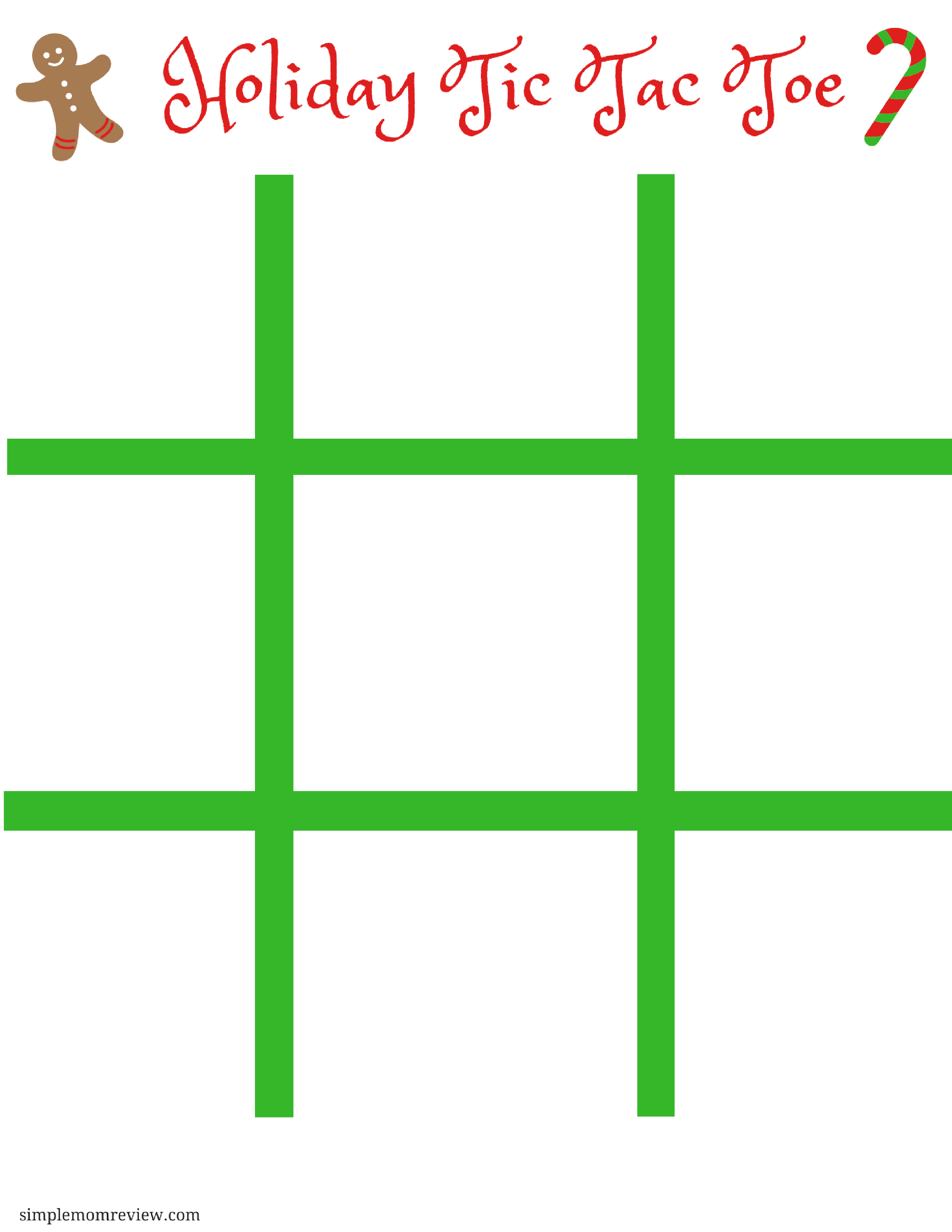 image relating to Tic Tac Toe Board Printable known as Gingerbread Person Tic Tac Toe - Very simple Mother Evaluation
