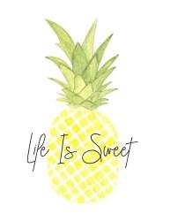 easy watercolor pineapple painting tutorial